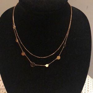 Kate spade gold double strand necklace